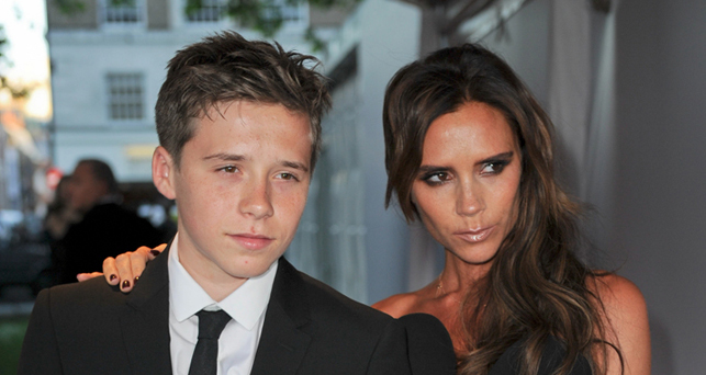 Brooklyn és Victoria Beckham, kép: © Landmark/PR Photos
