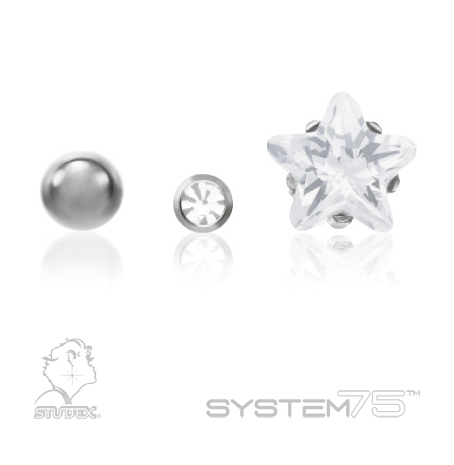 Constellation Piercings: Studex System 75 surgical stainless steel piercing studs