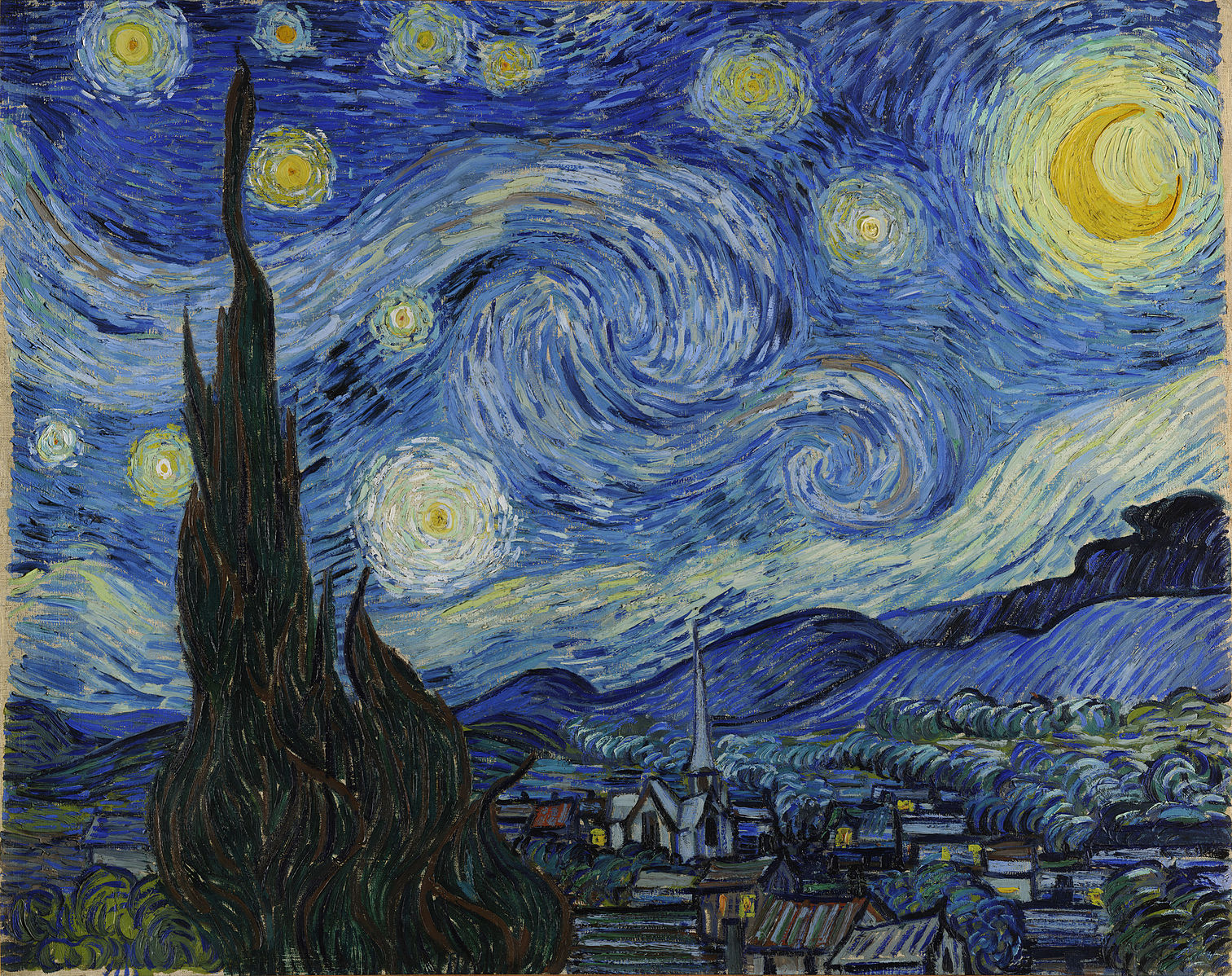 Constellation Piercings: The Starry Night – Vincent Van Gogh