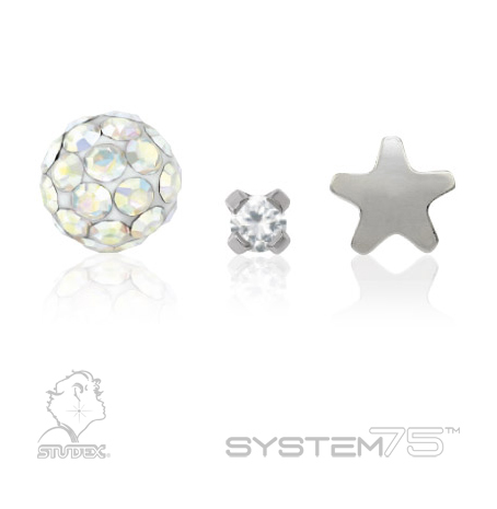Constellation Piercings: Studex System75 surgical stainless steel piercing studs